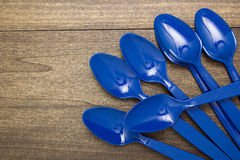 Plastic disposable spoon Royalty Free Stock Photography