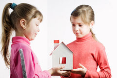 Plastic  doll's house Stock Photography