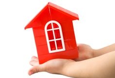 Plastic doll`s house Royalty Free Stock Photos