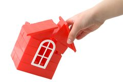 Plastic doll`s house Royalty Free Stock Photo