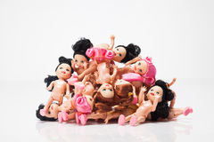 Plastic dolls Royalty Free Stock Photo