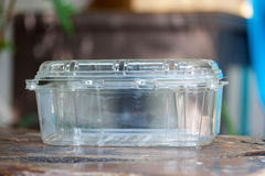 Plastic doos Royalty-vrije Stock Afbeeldingen