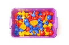 Plastic doos met kleurenmozaïek Royalty-vrije Stock Afbeelding