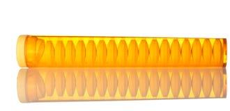 Plastic doos voor pillen Stock Foto's
