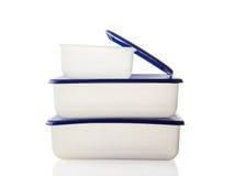 Plastic doos voor voedsel Royalty-vrije Stock Afbeeldingen