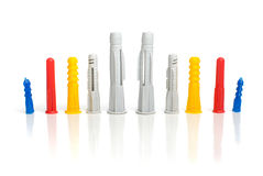 Plastic dowels Stock Photos