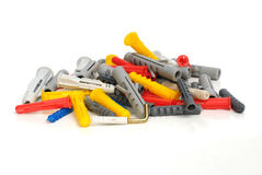 Plastic dowels Royalty Free Stock Images
