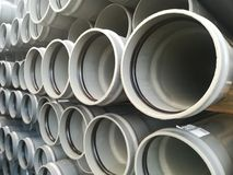Plastic drain pipes pvc Stock Photo