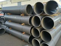 Plastic drain pipes pvc royalty free stock photos