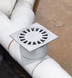 Plastic drain in a work outdoors Stock Photography