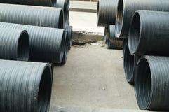 Plastic drainage pipe Stock Photo