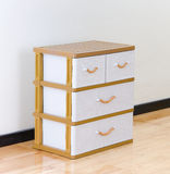 Plastic drawers. Stacks of plastic drawers for home or office using royalty free stock images