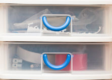 Plastic drawers Stock Image