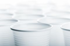 Plastic drinking glasses Royalty Free Stock Images