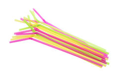 Plastic Drinking Straws Royalty Free Stock Images