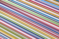 Plastic drinking straws,background Stock Photography