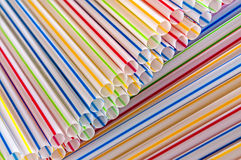 Plastic drinking straws,background Royalty Free Stock Photo