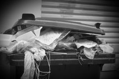 Plastic dumpster, garbage Royalty Free Stock Images