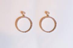 Plastic earrings circle royalty free stock image