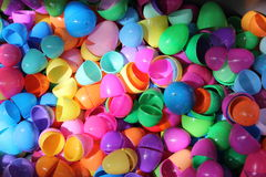Plastic Easter eggs. Hundreds of colorful plastic easter eggs Stock Photo