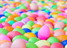 Plastic easter eggs toy for children`s Stock Photos