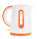 Plastic Electric Kettle. Isolated on white background royalty free stock photography