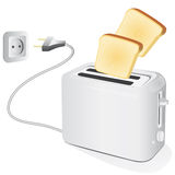 Plastic electric toaster Stock Photography