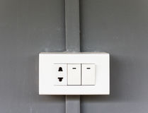 Plastic electrical socket. Stock Image