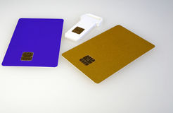 Plastic electronic card Royalty Free Stock Photos