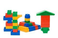 Plastic elements blocks for the designer Stock Photography