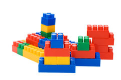 Plastic elements blocks for the designer Stock Image