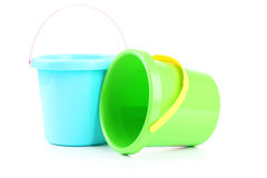 Plastic emmers Royalty-vrije Stock Foto