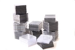 Plastic empty CD and DVD boxes Stock Image