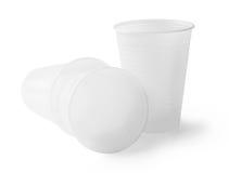 Plastic empty glasses Stock Image