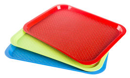 Plastic empty tray on a background Royalty Free Stock Photos