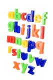 Plastic Engels brieven geïsoleerdn o royalty-vrije stock afbeelding