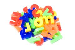 Plastic English letters isolated Stock Photography
