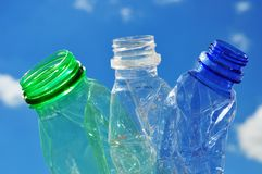 Plastics in environment Royalty Free Stock Images