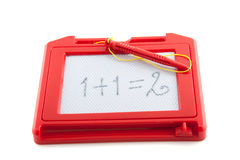 A plastic erasable drawing board Royalty Free Stock Image