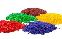 plastic färgglada partiklar Arkivbilder