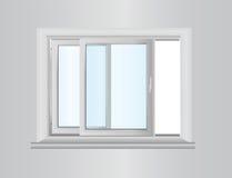 Plastic fönster stock illustrationer