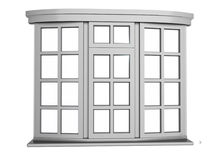 plastic fönster Arkivbild