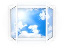 plastic fönster Fotografering för Bildbyråer
