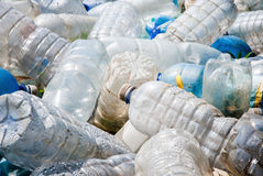 plastic förorening Arkivbilder