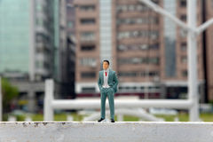 Plastic fake miniature people Royalty Free Stock Photography