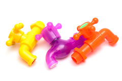 Plastic faucet Stock Images