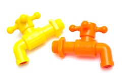 Plastic faucet Royalty Free Stock Image