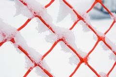 Plastic fence Royalty Free Stock Photos