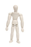 Plastic figure isolated Royalty Free Stock Images
