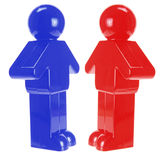 Plastic Figures Royalty Free Stock Photography